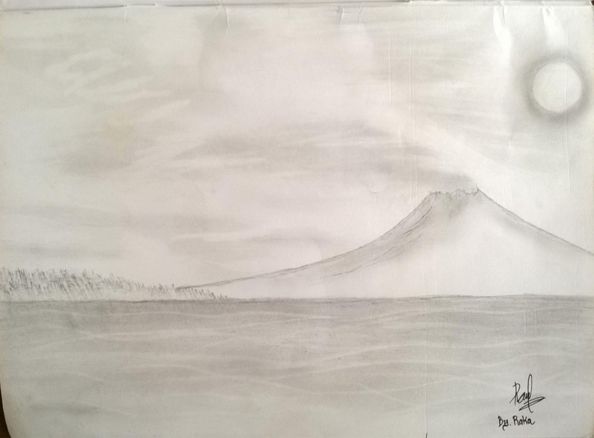 78 Gambar Arsir Gunung Paling Keren
